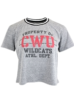 CWU Ladies Crop Gray Tee