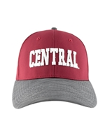 Crimson Central Snapback with Gray Bill