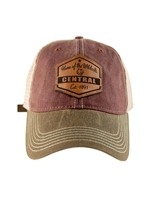 "Central Crimson/Brown ""Home of the Wildcats"" Hat"