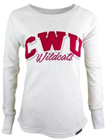 Ladies Oatmeal Crew Crimson CWU