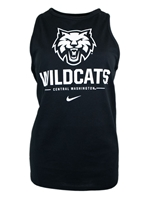Ladies Nike Black Tank w/ White Cathead