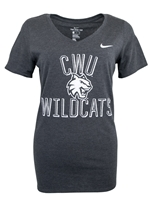 Ladies Nike Gray V-neck CWU Tee