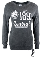 Ladies 1891 Central Lace Up Sweatshirt