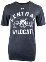 Ladies Central Wildcats Triblend UA Tee