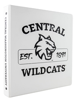 "1"" Central Wildcats Est. 1891 Binder"