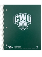 Arched CWU Cathead 4 Subject Spiral Notebook