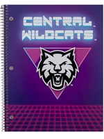 Retro Central Wildcats 1 Subject Spiral Notebook