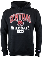 Central Wildcats Dad Black Hood