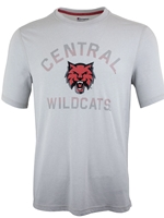 Gray Central Wildcats Tee