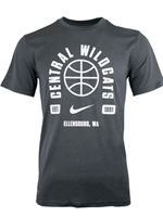 Gray Nike Dri-Fit 'Central Wildcats' Basketball Tee