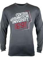 CWU Dark Gray Long Sleeve Tshirt
