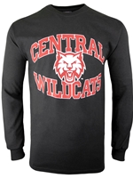 Central Wildcats Black Long Sleeve