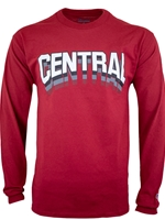 Central Crimson Long Sleeve Tshirt