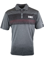 CWU Heathered Gray Polo