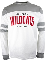 Central Wildcats Long Sleeve Jersey Tee