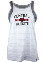 UA Ladies White/Gray Tank Cutout Back