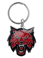 CWU Athletic Glitter Keychain