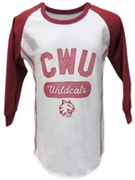 CWU Toddler Girls Baseball Tshirt