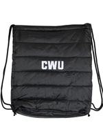 CWU Puffer Drawstring Cinch Pack