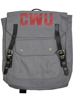 CWU Gray Canvas Backpack
