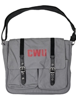 CWU Gray Canvas Messenger Bag