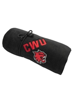 CWU Black Fleece Blanket