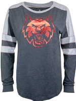 CWU Ladies Long Sleeve Colorblock Tee