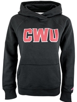 CWU Ladies Black Hood Sweatshirt