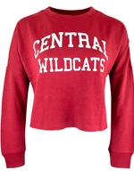 CWU Ladies Crimson Crop Long Sleeve