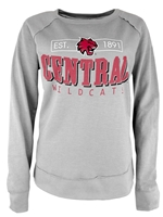 Ladies Vintage Gray Central Crew