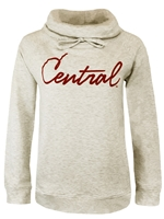 Ladies Central Oatmeal Funnel Neck