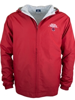 Crimson Hooded Jacket