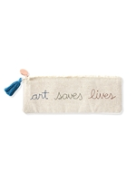 Art Saves Lives Stitched Pouch