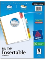 Avery Big Tab 5 Subject Dividers