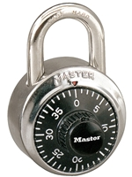 Master Lock Combination Lock -- Black Dial