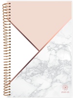 2020-21 Color Block Marble Planner