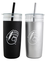 CWU Plastic Tumbler with Straw