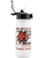 Central Frost Straw Waterbottle