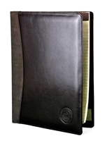 CWU Medallion Leather Portfolio Brown