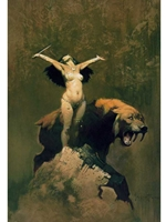 Frazetta Canvas Print 15X23 - Sun Goddess