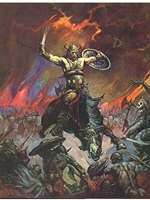 Frazetta Canvas Print 16X20 - The Berserker