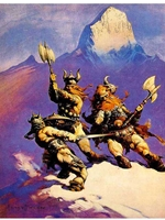 Frazetta Canvas Print 16x20 - The Snow Giants