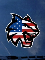 Patriotic CWU Wildcat Decal