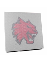 Wildcat Head Typo Canvas Print 16x16
