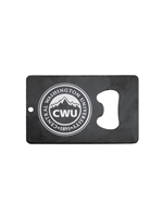 CWU Seal Credit Card Bottle Opener Black
