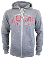 Central Washington Wildcats Full Zip Dad Sweatshirt