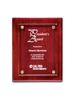 Acrylic Float Plaque Rosewood Engravable