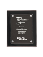 Black Piano Finish Float Acrylic Plaque