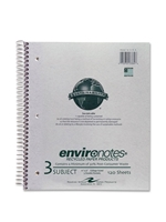 3 Subject Recycled Notebook