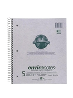 5 Subject Recycled Notebook